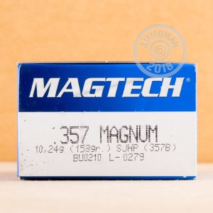 Photo of 357 Magnum semi-jacketed hollow-Point (SJHP) ammo by Magtech for sale at AmmoMan.com.