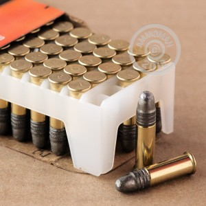 rounds of .22 Long Rifle ammo with Lead Solid (LS) bullets made by Federal.