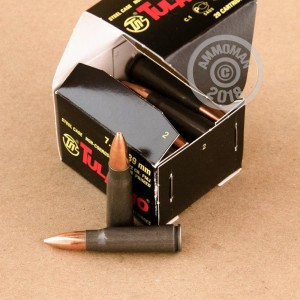 A photo of a box of Tula Cartridge Works ammo in 7.62 x 39.