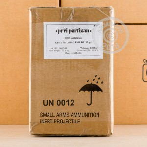 Photo of 5.56x45mm FMJ-BT ammo by Prvi Partizan for sale.