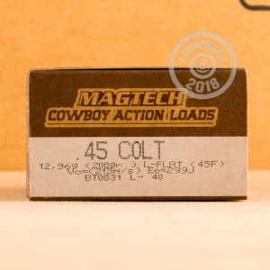 An image of .45 COLT ammo made by Magtech at AmmoMan.com.