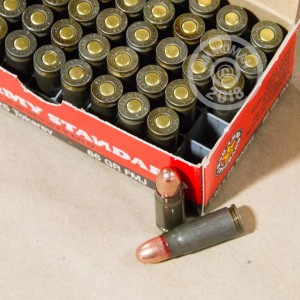 A photo of a box of Red Army Standard ammo in 7.62 x 25.