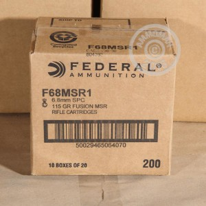 Photo of 6.8 SPC Fusion ammo by Federal for sale.