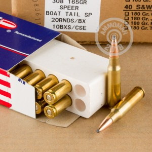 Image detailing the brass case on the Ultramax ammunition.