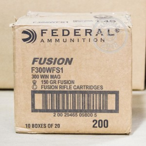 Image of Federal 300 Winchester Magnum rifle ammunition.