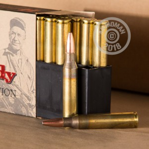 Image of 338 Lapua Magnum ammo by Hornady that's ideal for big game hunting, training at the range, whitetail hunting.