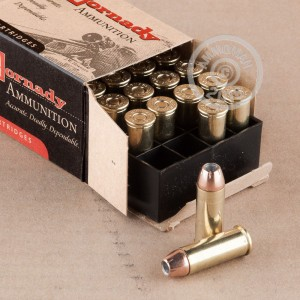 Image of 44 Special ammo by Hornady that's ideal for home protection.