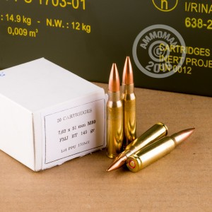Photo of 308 / 7.62x51 FMJ-BT ammo by Prvi Partizan for sale.