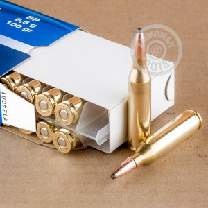 Image of 243 Winchester ammo by Prvi Partizan that's ideal for hunting wild pigs, whitetail hunting.