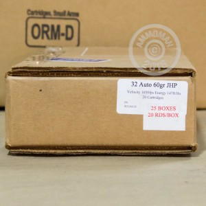 Image of .32 ACP ammo by Corbon that's ideal for home protection.