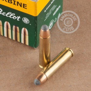 Image of Sellier & Bellot .30 Carbine rifle ammunition.