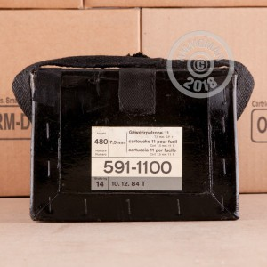 Image of bulk 7.5 X 55 ammo by RUAG Munitions that's ideal for training at the range.