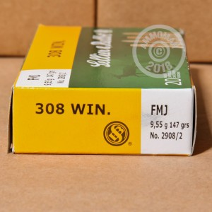 Image of Sellier & Bellot 308 / 7.62x51 rifle ammunition.