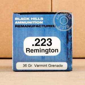 Image detailing the brass case on the Black Hills Ammunition ammunition.