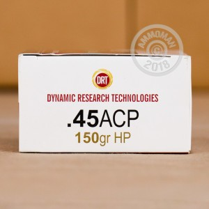 Photo of .45 Automatic frangible ammo by Dynamic Research Technologies for sale at AmmoMan.com.