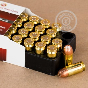An image of .45 Automatic ammo made by Dynamic Research Technologies at AmmoMan.com.