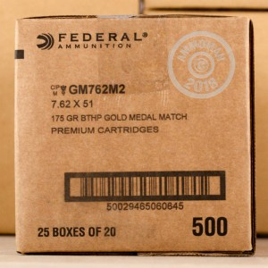 Image of 308 / 7.62x51 ammo by Federal that's ideal for precision shooting.