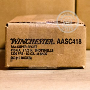 Photograph of Winchester 410 BUCKSHOT #8 shot for sale at AmmoMan.com