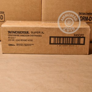 Image of .45 COLT ammo by Winchester that's ideal for training at the range.