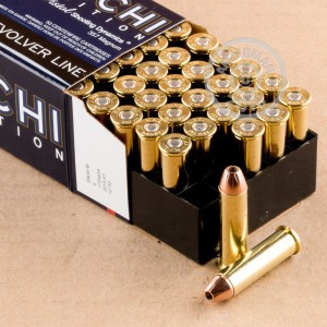 Photo of 357 Magnum JHP ammo by Fiocchi for sale at AmmoMan.com.