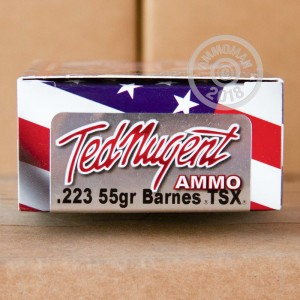 Image of Ted Nugent Ammo 223 Remington rifle ammunition.