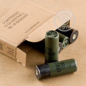 00 BUCK shotgun rounds for sale at AmmoMan.com - 5 rounds.