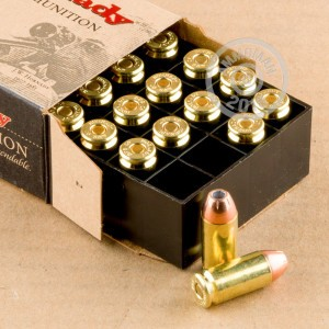 Image of .40 Smith & Wesson ammo by Hornady that's ideal for home protection.