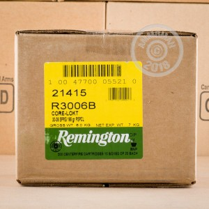 An image of 30.06 Springfield ammo made by Remington at AmmoMan.com.
