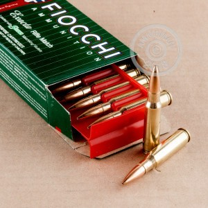 A photograph of 200 rounds of 180 grain 308 / 7.62x51 ammo with a Hollow-Point Boat Tail (HP-BT) bullet for sale.