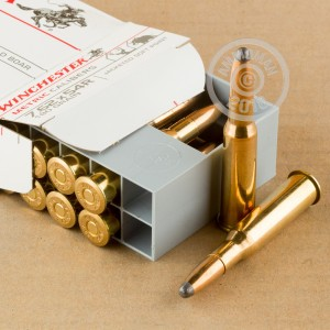 Image of Winchester 7.62 x 54R rifle ammunition.