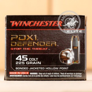 Photo of .45 COLT JHP ammo by Winchester for sale at AmmoMan.com.