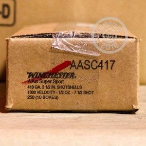 Photograph of Winchester 410 BUCKSHOT #7.5 shot for sale at AmmoMan.com