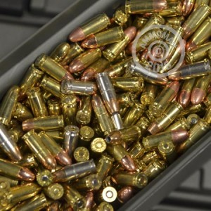 A photo of a box of Mixed ammo in 9mm Luger.