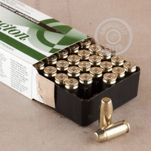 A photo of a box of Remington ammo in .40 Smith & Wesson.
