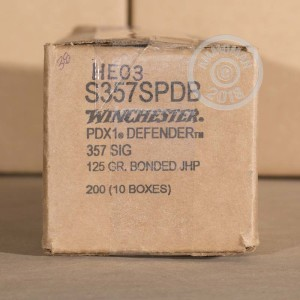 An image of 357 SIG ammo made by Winchester at AmmoMan.com.
