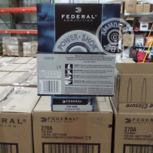 Image of 270 Winchester ammo by Federal that's ideal for hunting wild pigs, whitetail hunting.