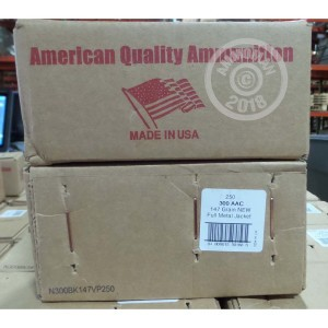 Photo of 300 AAC Blackout FMJ ammo by American Quality Ammunition for sale.