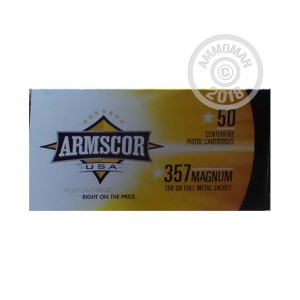 An image of 357 Magnum ammo made by Armscor at AmmoMan.com.