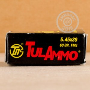 Image of Tula Cartridge Works 5.45 x 39 Russian rifle ammunition.