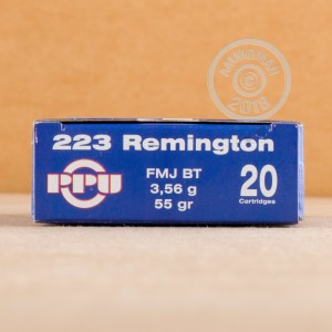 Image of 223 Remington ammo by Prvi Partizan that's ideal for training at the range.