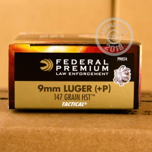 Photo of 9mm Luger JHP ammo by Federal for sale at AmmoMan.com.