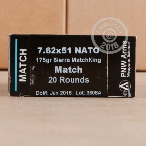 An image of 308 / 7.62x51 ammo made by PNW Arms at AmmoMan.com.