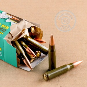 A photo of a box of Brown Bear ammo in 308 / 7.62x51.