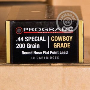 Image of ProGrade Ammunition 44 Special pistol ammunition.