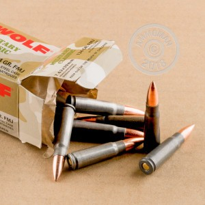 A photo of a box of Wolf ammo in 7.62 x 39.