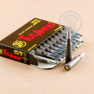 An image of 308 / 7.62x51 ammo made by Tula Cartridge Works at AmmoMan.com.