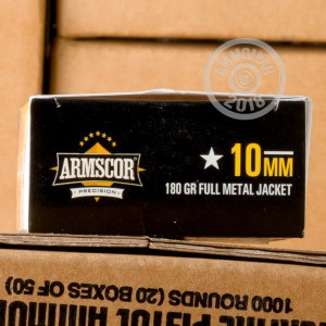 Photo of 10mm FMJ ammo by Armscor for sale at AmmoMan.com.