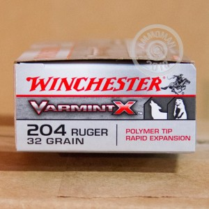 Photo of 204 Ruger Polymer Tipped ammo by Winchester for sale.