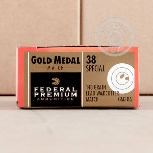 Image of 38 Special ammo by Federal that's ideal for precision shooting, training at the range.