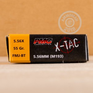 Photo of 5.56x45mm FMJ-BT ammo by PMC for sale.